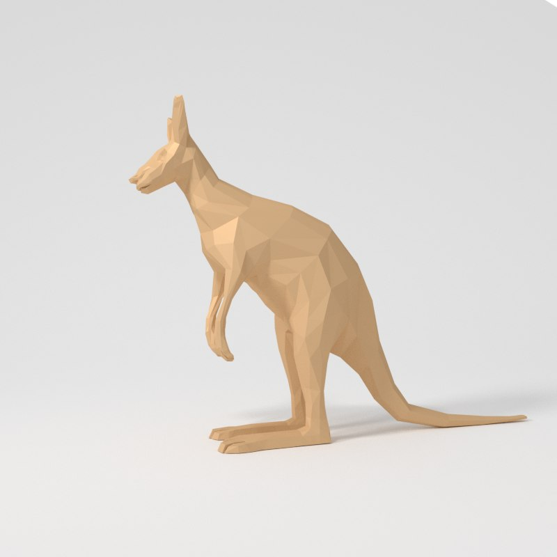 3D cartoon kangaroo