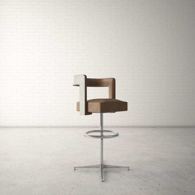 3D custom designed bar stool