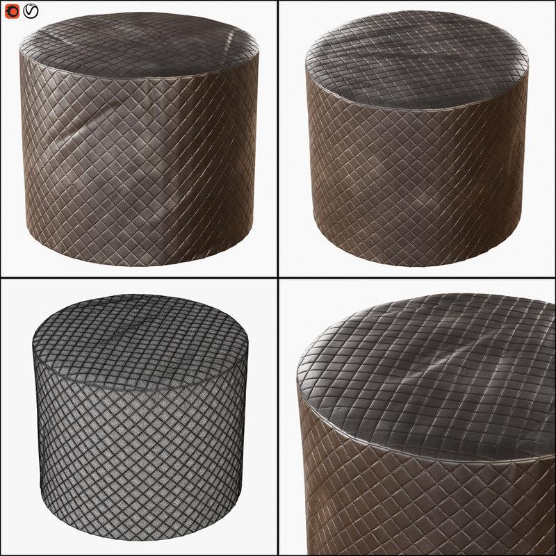 pouf flai ville lumiere 3D model