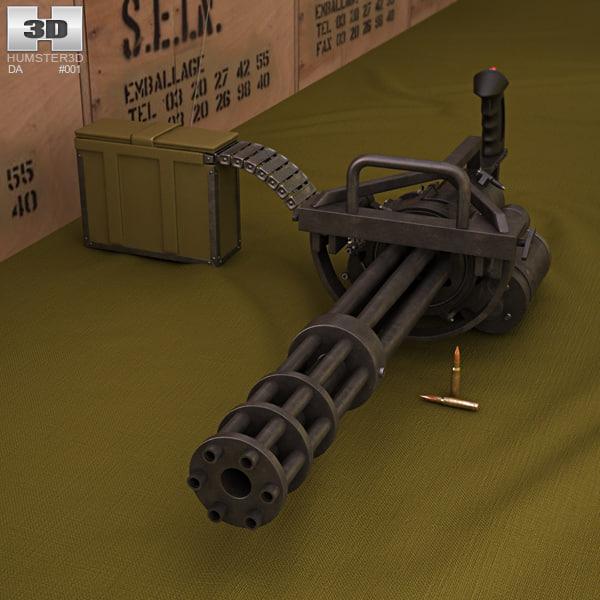3D minigun m134 m