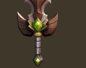 cartoon sword 3D model