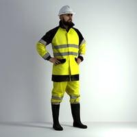 3D Scan Man Worker Safety 017