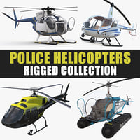 police helicopters rigged model