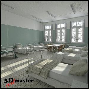 old hospital ward 3D model