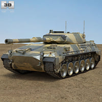 tanque argentino mediano 3D model