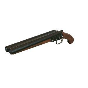 lupara shotgun gun 3D model