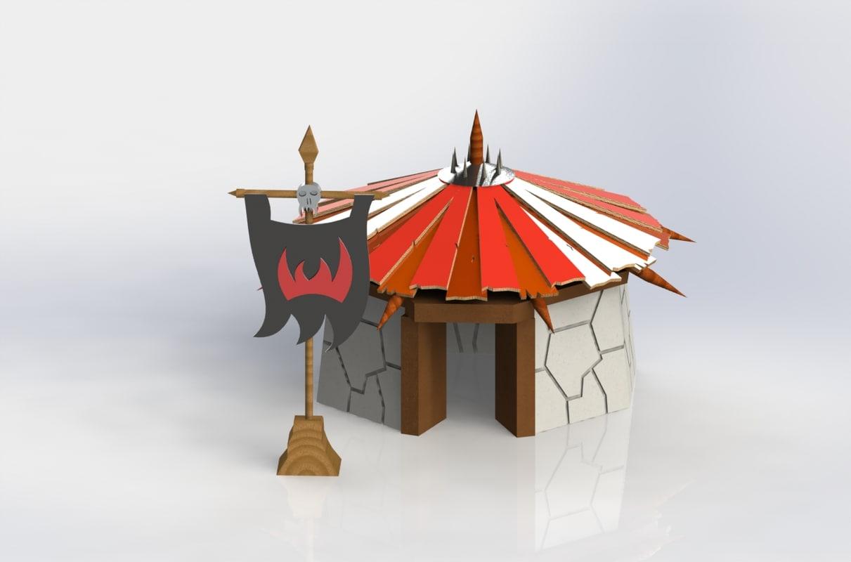 3D orc hut