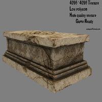 3D base statue model