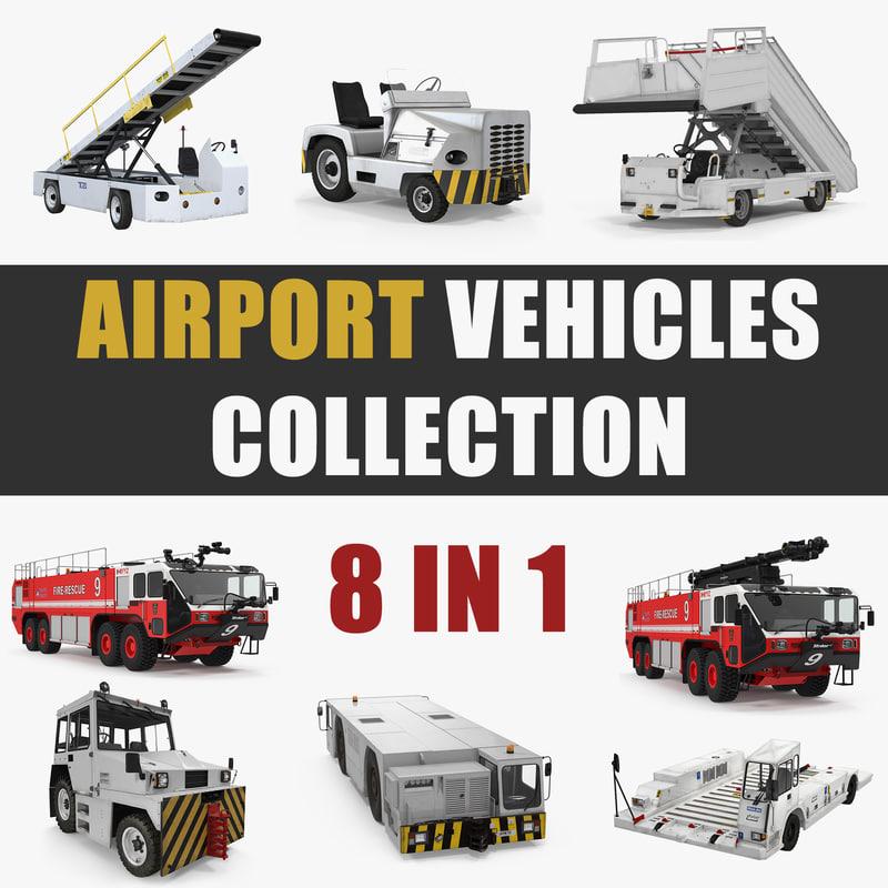 3D model airport vehicles
