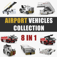 Airport Vehicles 3D Models Collection