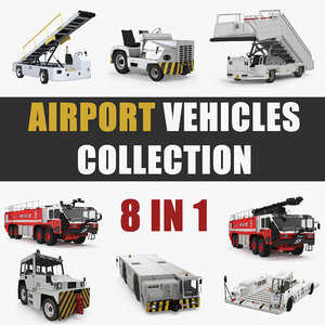 3D model airport vehicles