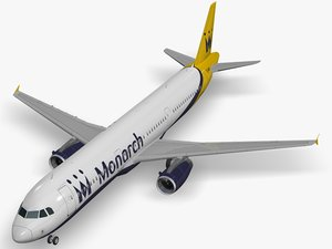 airbus a321-231 monarch airlines 3D model