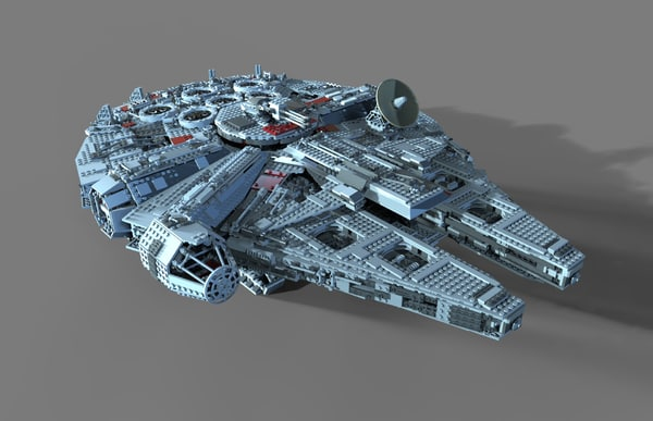 3D lego spaceship