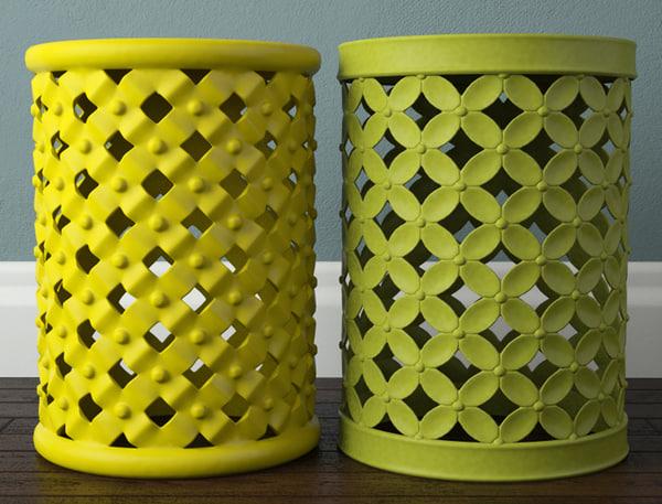 3D lattice garden stools model