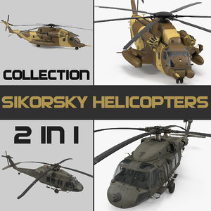 3D sikorsky military helicopters