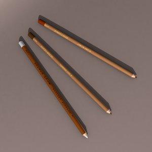 drawing pencils 3D