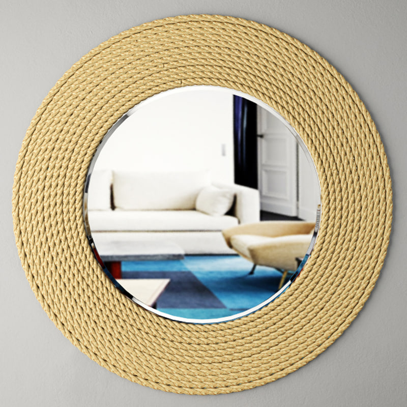 3D quincy rope wall mirror model