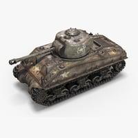 m4a4 sherman tank model
