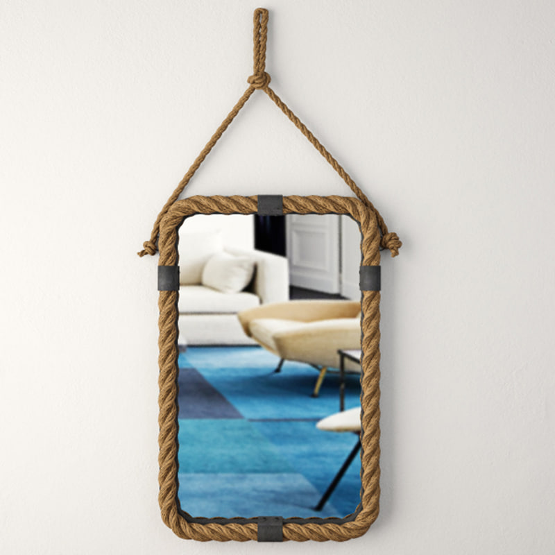 3D rope frame wall mirror