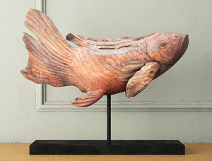 swimming koi statue 3D model