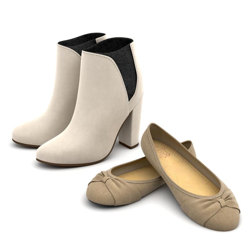 3D set women shoes