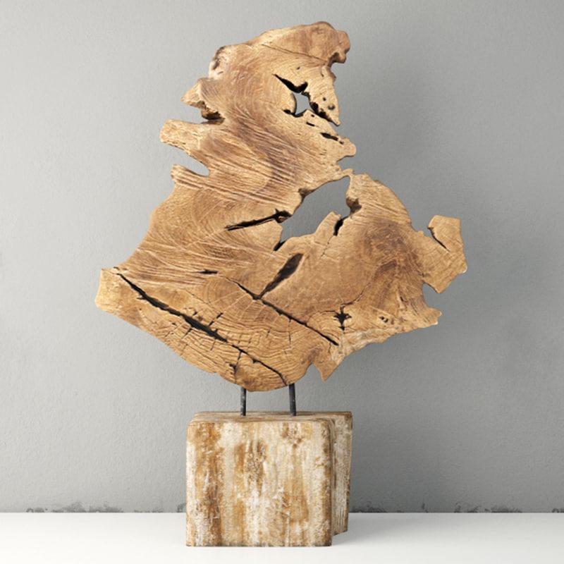 3D model teak decoration