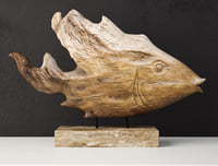 Teak Fish Bust by Uttermost