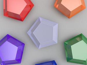 3D star gems diablo 3 model