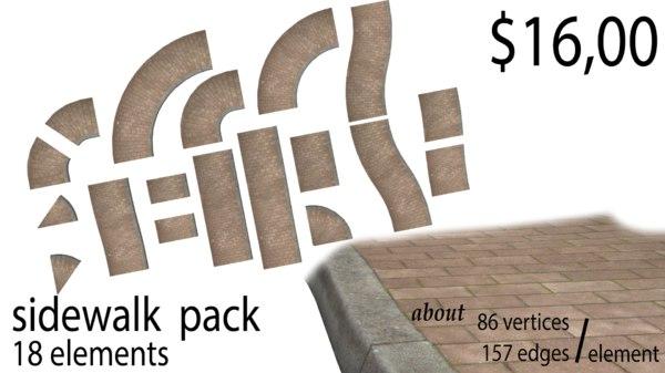pack sidewalk 3D
