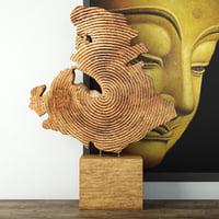 teak wheel 3D model