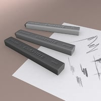 3D graphite sticks model