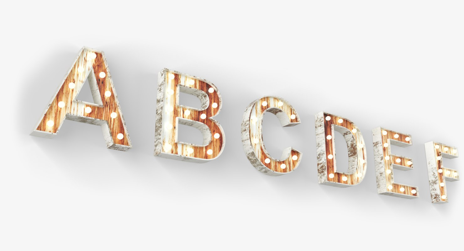 light font 3D model