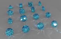 3D set 16 gemstone