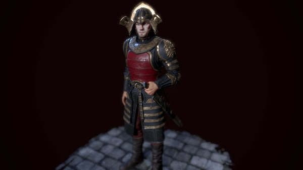 lannister officer 3D model