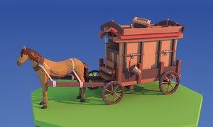 3D horse games model