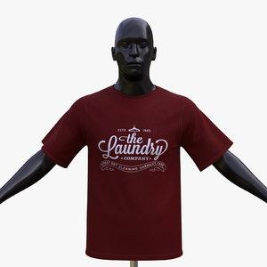tshirt mannequin 3D model