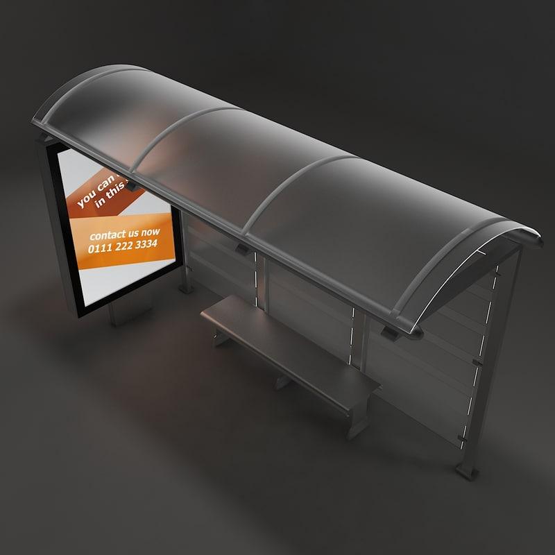 bus minibus stop model