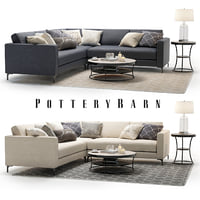 3D model set pottery barn jake