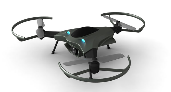 drone concept 3D model