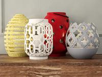 ceramic lanterns model