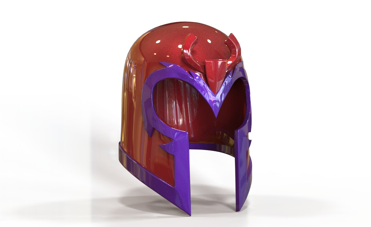 3D model helmet comics