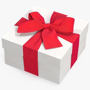 gift box white 2 3D model