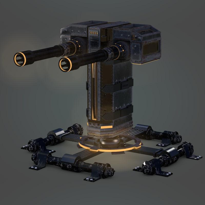 defense turret 3D model