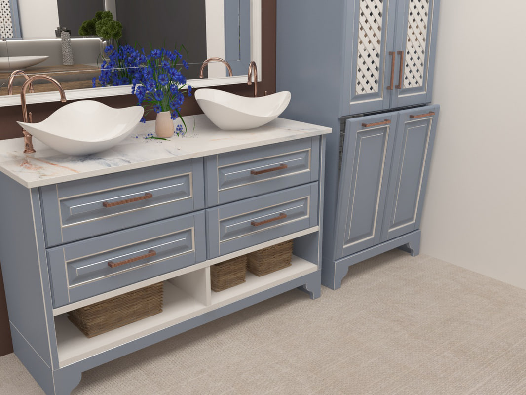 bath bathroom room 3D model