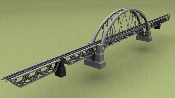 3D steel railway bridge model