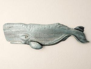 whale decoration sunny model