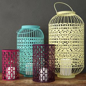 3D model lattice lanterns