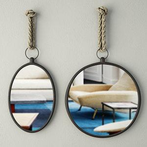 3D nautical wall mirrors