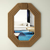 3D rope wall mirror