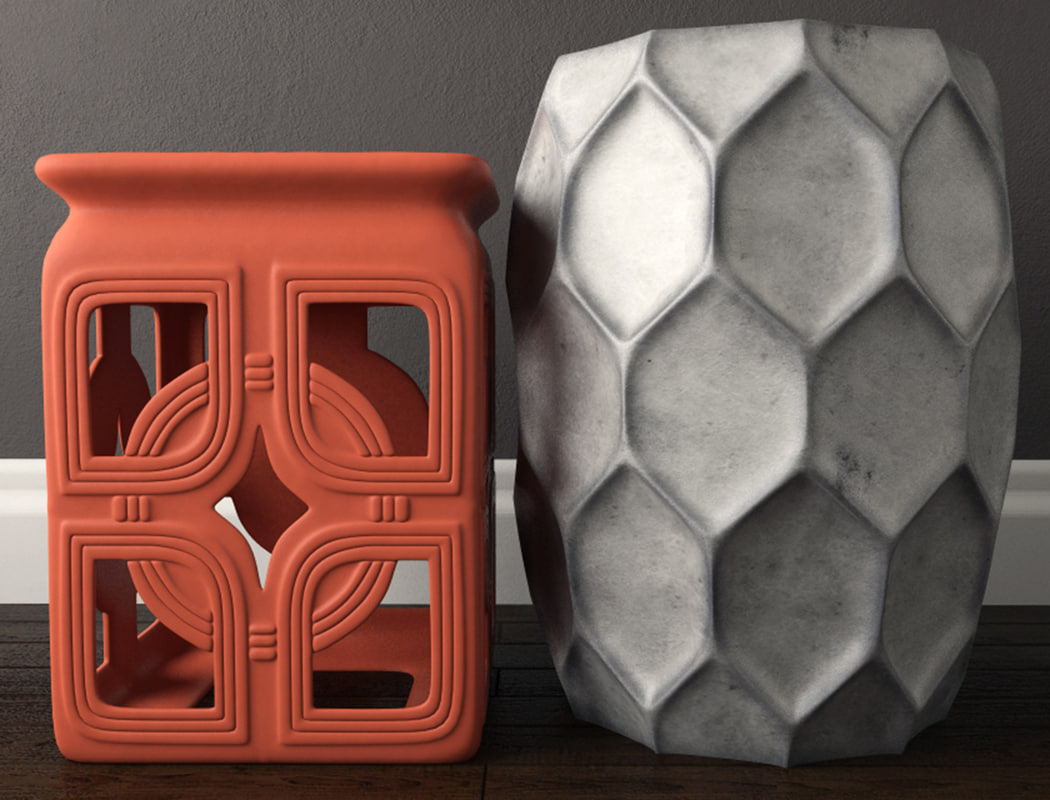 3D model stools